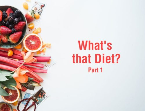 What's that Diet? Part 1